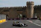 Istorinėje kvalifikacijoje Azerbaidžane nugalėjo N.Rosbergas, L.Hamiltonas patyrė fiasko