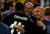 """Casemiro: """"Kartais treniruotėse žaidžia Zidane'as ir jas jis užbaigia kaip geriausias žaidėjas"""""""