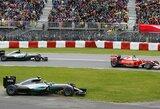 """""""Ferrari"""" strateginė klaida padovanojo L.Hamiltonui pergalę, N.Rosbergas turėjo daug problemų"""
