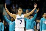 """J.Lino vedama """"Hornets"""" panaikino 23 taškų deficitą ir nukovė """"Spurs"""" ekipą"""