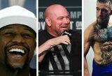 UFC prezidentui baigėsi kantrybė: iškėlė ultimatumą C.McGregorui dėl kovos su F.Mayweatheriu