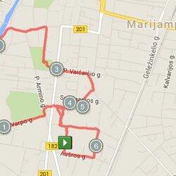 6.48 km trasa Marijampolėje