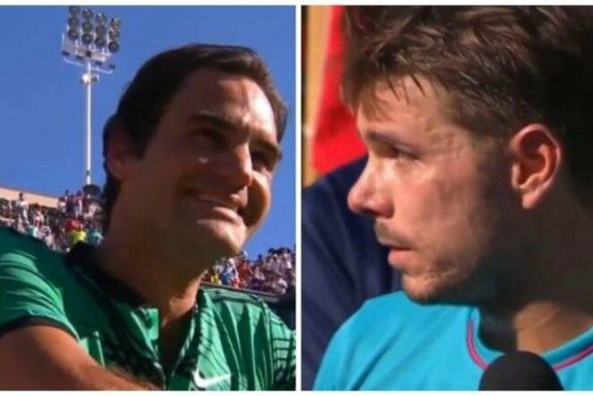 Stanas Wawrinka ir Rogeris Federeris | Youtube.com nuotr.