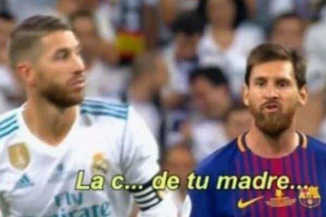 Lionelis Messi ir Sergio Ramosas   Youtube.com nuotr.