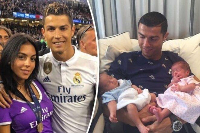 "Cristiano Ronaldo ir Georgina Rodriguez | ""Twitter"" nuotr."