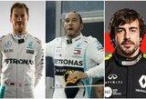 """""""F-1"""" mozaika: bręstantys trišaliai mainai, S.Vettelio duetas su L.Hamiltonu ir F.Alonso sugrįžimas"""
