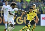 """""""Borussia"""" per pridėtą rungtynių laiką išplėšė dramatišką pergalę, """"Schalke"""" išvykoje užtikrintai nugalėjo """"Dusseldorf"""""""