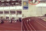 Šiurpu: sporto kompleksas Rusijoje ėmė byrėti vaikų lenktynių metu