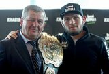 """C.Nurmagomedovo tėvas įvardino vietas, kur gali būti perkeltas """"UFC 249"""" turnyras"""