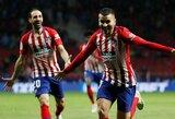 """Ispanijoje trilerį prieš """"Valencia"""" laimėję """"Atletico"""" ir toliau laikosi antroje vietoje"""