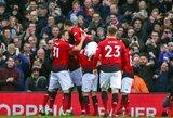 """Repeticija prieš Čempionų lygą: """"Manchester United"""" lengvai susitvarkė su """"Premier"""" lygos autsaideriais ir pakilo į ketvirtą vietą"""