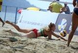 Europos jaunių paplūdimio tinklinio čempionate lietuviai nukeliavo iki aštuntfinalio