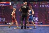 R.Čepauskas pralaimėjo kovą dėl Europos jaunių imtynių čempionato bronzos, V.Danisevičiūtė – mažajame finale