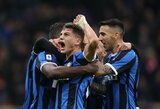 """Triuškinančią pergalę iškovoję """"Inter"""" sugrįžo į Italijos pirmenybių viršūnę"""