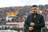 """Nevykęs G.Gattuso debiutas """"Milan"""" ekipoje: dramatiškose rungtynėse neįveikti absoliutūs """"Serie A"""" autsaideriai"""