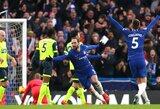 """G.Higuainas pelnė 2 įvarčius, o """"Chelsea"""" sutriuškino """"Huddersfield Town"""" futbolininkus"""