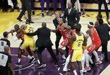 NBA nubaudė muštynių Los Andžele dalyvius