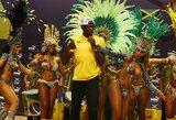Įspūdingoje U.Bolto spaudos konferencijoje - karštos merginos ir aistringi Sambos šokiai