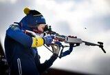 Olimpinė slidinėjimo čempionė debiutavo biatlone: sutrukdė prastas šaudymas