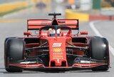"""S.Vettelis paskutinę sekundę atėmė """"pole"""" poziciją iš L.Hamiltono, K.Magnusseno avarija sugadino kvalifikaciją M.Verstappenui"""