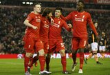 """FA taurė: """"Liverpool"""" susitvarkė su """"Exeter"""" klubu, """"Tottenham"""" eliminavo """"Leicester"""" ekipą"""