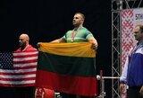 Pasaulio rekordą pagerinęs A.Paulauskas – apie galimybę išspausti dar sunkesnę štangą, lietuvių palaikymą ir ateities planus