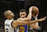 """NBA lyderių mače """"Spurs"""" neuztralizavo S.Curry bei nugalėjo """"Warriors"""""""
