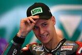 """Sensacija: F.Quartararo tapo jauniausiu """"MotoGP"""" lenktynininku per istoriją, iškovojusiu """"pole"""" poziciją"""