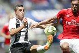 """""""Juventus"""" tik po 11 metrų baudinių serijos palaužė """"Benfica"""" klubą ir iškovojo antrąją pergalę iš eilės"""