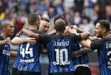 """Milano """"Inter"""" triumfavo Romoje ir žais Čempionų lygoje"""
