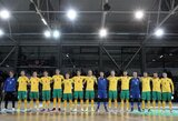 Lietuvos futsal rinktinė antrą kartą neprilygo Kirgizijai