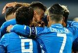 """D.Mertensas rungtynių pabaigoje fantastišku smūgiu išplėšė """"Napoli"""" ekipai pergalę prieš lygos autsaiderius"""