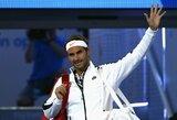 R.Federerio sugrįžimas į aukščiausio rango turnyrą pažymėtas pergale