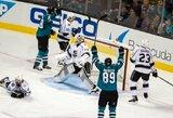 """""""Sharks"""" pergalingai pradėjo naują NHL sezoną"""