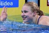 Visus penkis finalo plaukimus laimėjusi R.Meilutytė iškovojo antrąjį aukso medalį Edinburge
