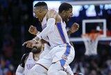 P.George'as pelnė 47 taškus, R.Westbrookas perrašė NBA istoriją