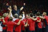 A.Murray'aus vedami britai po beveik 80 metų pertraukos triumfavo Daviso taurės turnyre