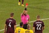 Latvijos futbolo krachas tęsiasi: tiesioginė raudona kortelė už smūgį varžovui, nerealizuotas 11 m baudinys ir nenugalėta Andora