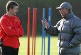 """Man United"" strategas O.G.Solskjaeras džiaugėsi sulaukęs S.A.Fergusono vizito"