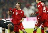 """F.Ribery pelnytas įvartis rungtynių pabaigoje padovanojo """"Bayern"""" pergalę prieš turnyrinės lentelės kaimynus"""
