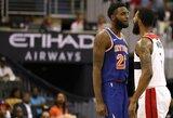 """""""Knicks"""" naujoką provokavęs """"Wizards"""" puolėjas išvytas iš aikštės"""
