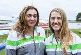 Pasaulio jaunių irklavimo čempionate U.Juzėnaitė ir D.Rimkutė kovos dėl medalių