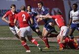 Šešių nacijų regbio turnyre triuškinantis Italijos pralaimėjimas Edinburge ir Prancūzijos nesėkmė Paryžiuje