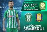 """Vilniaus """"Žalgiris"""" paskutinėse sezono rungtynėse pagerbs karjerą baigiantį D.Šemberą"""