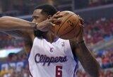 """""""Clippers"""" priekinė linija sutraiškė """"Warriors"""" lemiamomis akimirkomis – Los Andželo klubas žengė į konferencijos pusfinalį"""