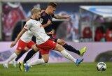 """Vokietijos lyderių akistata baigėsi lygiosiomis: """"Bayern"""" neįveikė """"Leipzig"""""""