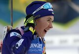 Lietuvos biatlonininkės kukliai pasirodė pasaulio taurės etape, sužibėjo latvė