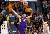 """Kalėdų stebuklas: """"Lakers"""" naujokas efektingai įmetė kamuolį į savo krepšį"""