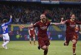 """Turnyrinės lentelės kaimynų akistatoje – """"AS Roma"""" pergalė prieš """"Sampdoria"""""""