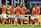 6 įvarčių dramą svečiuose laimėję olandai privertė vokiečius patirti pirmąjį pralaimėjimą Europos čempionato atrankoje